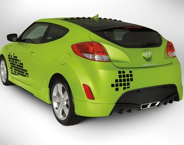 2015 Hyundai Veloster Body Kit - Rear Skirt