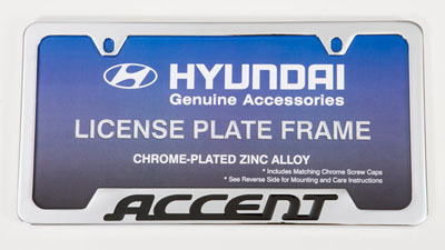 2009 Hyundai Accent Accent License Frame 00402-31912